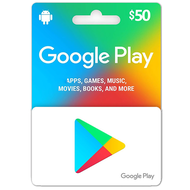 Google Play $50USD Gift Card for APPS,Games,Music,Books and More