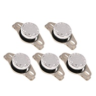 Flameer 5pcs KSD301 NO Temperature Controlled Switch Thermostat 250V 10A