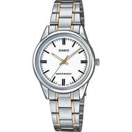 Casio นาฬิกาข้อมือผู้หญิง สายสแตนเลส รุ่น LTP-V005 ของแท้ประกันศูนย์