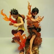 出清特價送 特效 正版 火焰兄弟 魯夫 艾斯 薩波 景品 公仔 模型 火焰三兄弟 一番賞 wcf figuartzero