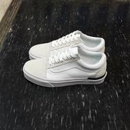 VANS Old Skool 白色 黑線 黑色 白黑 全白 帆布 麂皮 基本款 板鞋