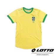 義大利第一品牌-LOTTO樂得 男款世足風潮紀念巴西代表隊T-SHIRT [LT4BUT0554] 黃色【巷子屋】