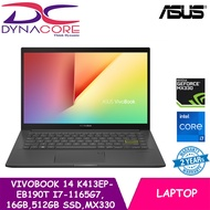 【Ready Stock】 ASUS VivoBook 14 K413EP-EB190T   Ultra Slim-1.4Kg   i7-1165G7   16GB DDR4   512GB PCIe SSD   MX330 Graphics   Win10 Home   2Y Asus Warranty