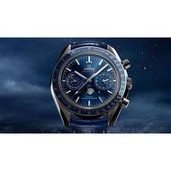 OMEGA 歐米茄 Speedmaste 超霸 月相 登月錶 藍面 不鏽鋼 44MM 接受預訂