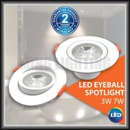led downlight. [2 Years Warranty] 3W 7W LED Recessed Eyeball Spotlight Round LED Downlight Spotlight Spot light Ceiling