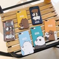 WE BARE BEARS brown bear iphone7 6plus phone case iPhone 6s shell three bears naked bear