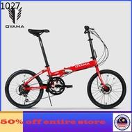 basikal mtb mtb bike folding bicycle bicycle ⚘OYAMA folding bike 20 inch 12 speed aluminum alloy folding frame for men a