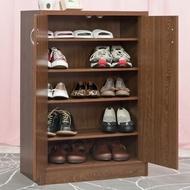 【TZUMii】雙門鞋櫃(胡桃木色)