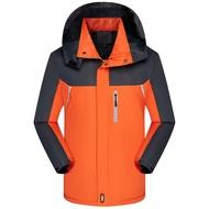 现货新款新款冬季加絨加厚保暖工作服外套防風防水運動風衣男登山外套