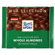【買四送一、贈品隨機】Ritter Sport 全杏巧克力