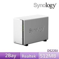 【希捷 4TB】1入組 NAS硬碟(ST4000VN008)+【Synology】DS220j  網路儲存伺服器