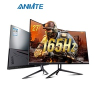 "Anmite 27"" curved 165hz 2MS computer Gaming Monitor 144hz PS4 Nintendo game console expansion external screen"