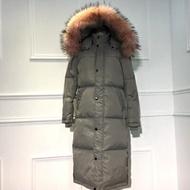 羽絨外套連帽夾克-冬季保暖白鴨絨過膝長款女外套2色73pl7【獨家進口】【米蘭精品】
