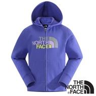 The North Face 童款 LOGO兜帽外套_星空紫 V