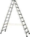 Zarges Aluminium Step Ladder 2 x 10 steps 2.2m open length