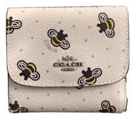 COACH 休閒時尚女短款卡包錢夾三折搭扣零錢包 F25972