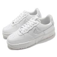 【NIKE 耐吉】休閒鞋 AF1 Pixel 運動 女鞋 基本款 舒適 簡約 皮革 質感 像素細節 白(CK6649-102)