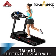 TM-688 Foldable Treadmill ★ Jogging ★ Running ★ Home Gym ★ Indoor Exercise ★ Manual Incline