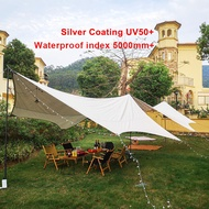 3F UL GEAR Camping Flysheet 210D Super Large Tarp Tent Shelter Waterproof (5.5 x 6m x 4.5 x 5.5m)