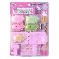 【小禮堂】Hello Kitty 鯛魚燒烤盤玩具組《粉綠.泡殼裝》兒童玩具.扮家家酒