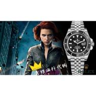 代購勞力士ROLEX復仇者聯盟定制款男士機械手錶藍水鬼綠水鬼 黑水鬼 紅水鬼 改裝勞力士錶帶手錶