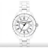 COACH   小香風水鑽 數字刻度陶瓷腕錶 / 白 CO14503462