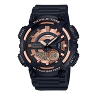 CASIO 世界城市雙顯錶/黑色/AEQ-110W-1A3VDF