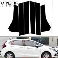 Vtear For Honda JAZZ / FIT / GK / SHUTTLE 2014-2020 accessories car window B C pillar sticker trim black mirror reflection panel Exterior anti scratch