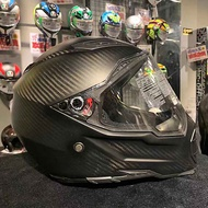 ☃☾♦AGV AX8 NAKED carbon brazing motorcycle off-road helmet full-cover men and women racing running