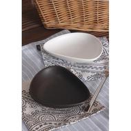 磨砂啞光黑白鵝卵石創意西餐盤