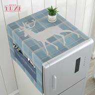 冰箱巾蓋布冰箱罩單開門多用棉麻布藝蓋巾雙對開門冰箱防塵罩