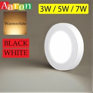 downlight^down light led^ LED Downlight Mini Spot light Wall Surface Mounted Lamp 3W 5W 7W (White/Black)