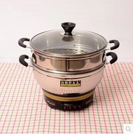 Multi-function electric cooker stainless steel household electric cooker pot pot steamer