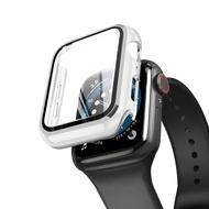 นาฬิกา Appleiwatchฝาครอบป้องกันฟิล์มนิรภัยapplewatch6/se/5/4/3/2/1ฟิล์มกันรอยเต็มจอappleฟิล์มเปลือกฮาร์ดพร้อมสายฟิล์มรวมทุกอย่าง