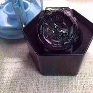 G-Shock限量版紫色爆裂紋雙顯示手錶