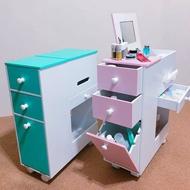 移動式化妝車 化妝櫃 化妝盒 收納櫃 床頭櫃 移動收納化妝台 化妝邊桌 喬艾森