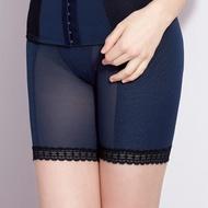 【曼黛瑪璉】15AW 魔幻美型  重機能中腰中管束褲(內斂藍)