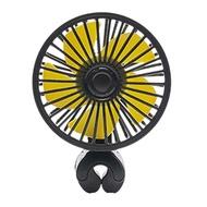 頭枕桿夾式 便利迷你車用/家用散熱 3.5吋電風扇 USB插電式三段風速可調 AE180019