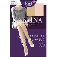 日本絲襪 日本製 GUNZE・SABRINA Hard power 抗UV 15hPa 壓力塑身薄款絲襪