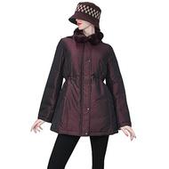 【DAKS】經典格紋可拆式連帽羽絨外套(紫紅色-42)