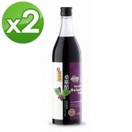 【義昌生技】陳稼莊桑椹醋-無糖*2瓶組(600ml/瓶)