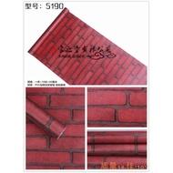 精品防水自粘磚塊紅色現貨磚墻紅磚塊墻磚背景即貼墻紙墻貼。963941