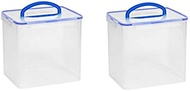 Snapware 1098437 40 Cup Clear Airtight Food Storage Container With Handle (2-Pack)
