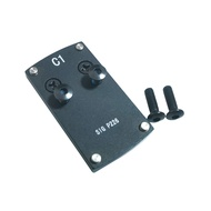 ✸◑Tactical Rear Red Dot Plate Base Sight Mount for Hunting Pistol SIG P226 Compatible Sphinx / Vort