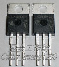 場效電晶體 (INFINEON IPP039N04LG ) TO-220AB(N-CH) 40V 80A 0.0039Ω
