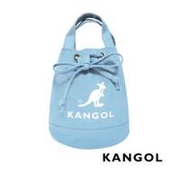KANGOL 韓版玩色系列-帆布斜背水桶包-淺藍 AKG1214