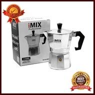 หม้อต้มกาแฟมอคค่าพอท (MOKA POT) iMIX อลูมิเนียม 3 ถ้วย อุปกรณ์ทำกาแฟ ทำกาแฟ เครื่องชงกาแฟ กาแฟคั่วบด กาแฟสด ใครยังไม่ลอง ถือว่าพลาดมาก !!