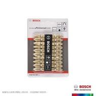 【BOSCH 博世】螺絲起子頭組 金 65mm 10支/卡
