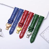 Women's leather watch strap suitable for Armani Tissot Rossini Citizen dw flat interface men's leather bracelet