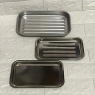 小烤箱用烤盤小/大 台灣製造正304不繡鋼烤盤 蒸盤